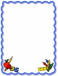 School themed border clipart jpg free stock kindergarten border clip art - Google Search | School ... jpg free stock