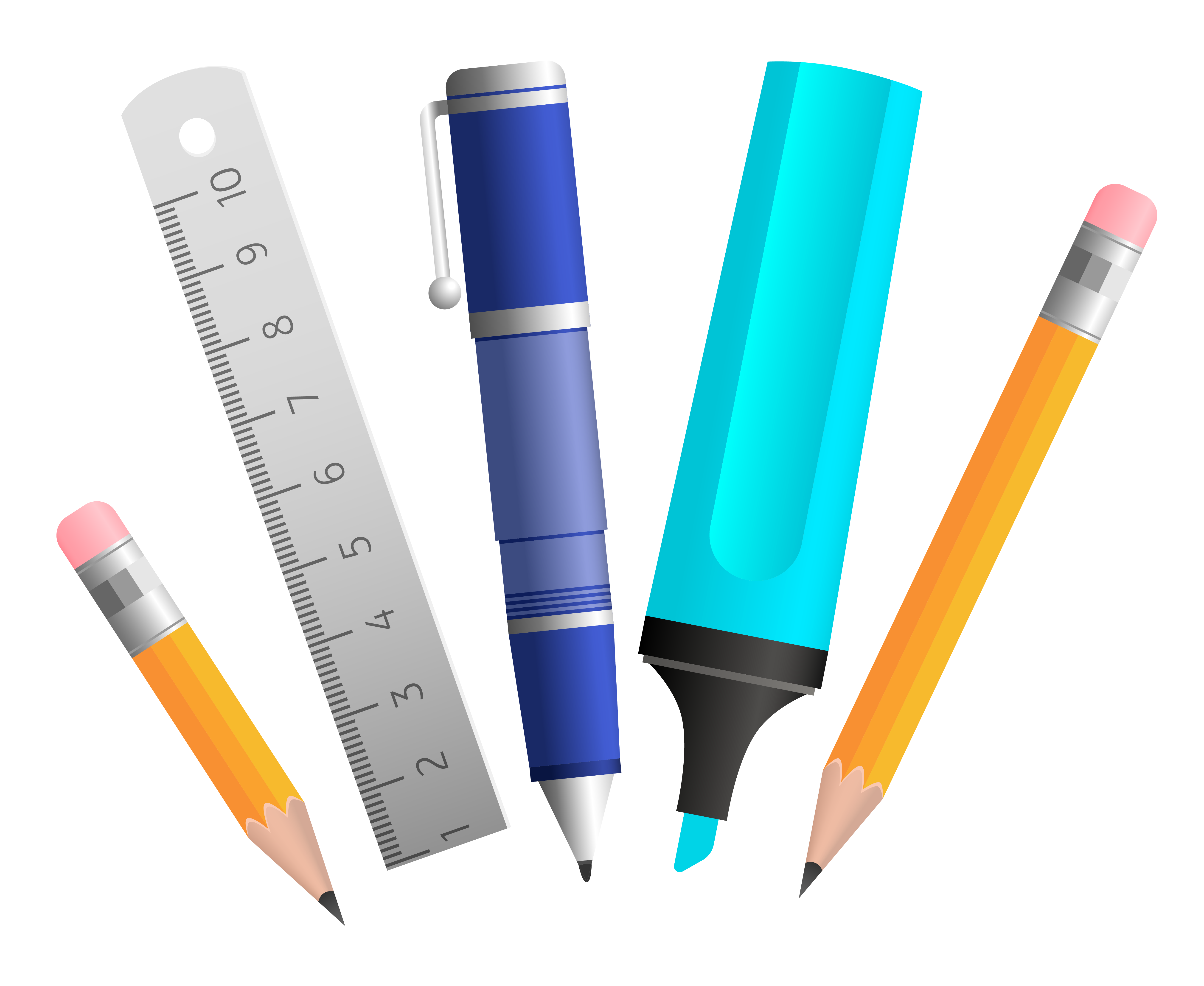 School tools clipart clipart freeuse stock School Tools PNG Picture | Gallery Yopriceville - High-Quality ... clipart freeuse stock