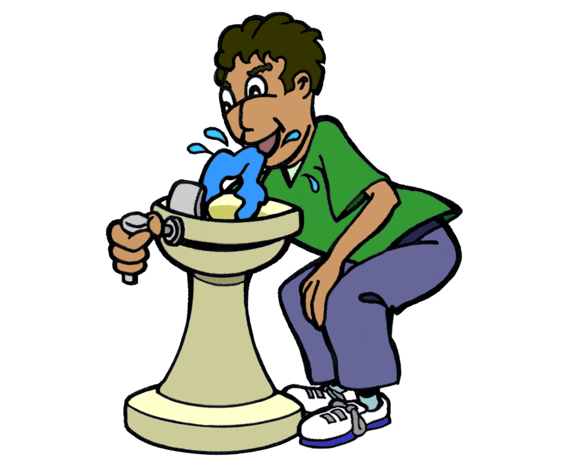 School water fountain clipart vector royalty free stock Drinking Water Fountain Clipart vector royalty free stock