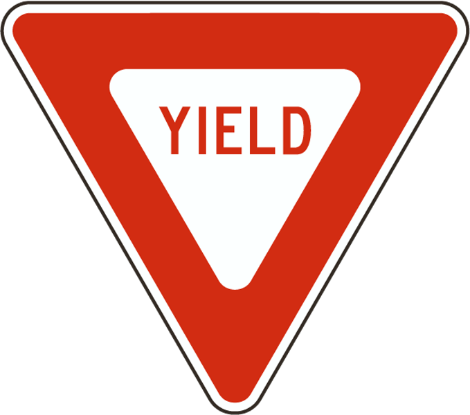 School zone sign clipart graphic black and white library Yield Sign | Pinterest graphic black and white library