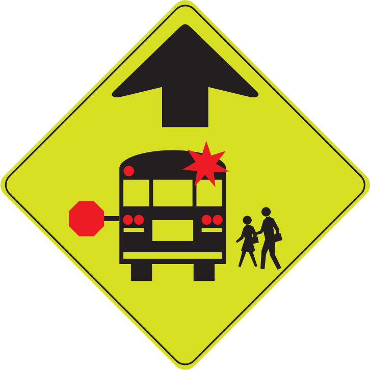 School zone sign clipart library Clipart - School Bus Stop Ahead library