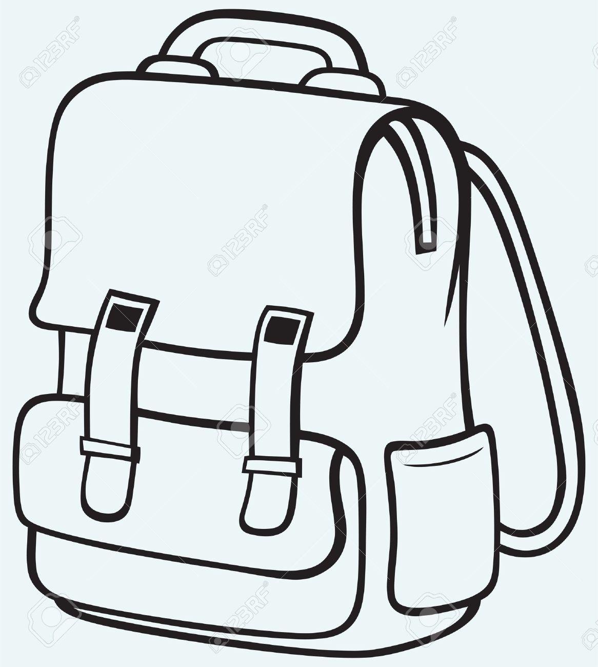 Schoolbsag clipart svg freeuse School Bag Clipart - Free Clipart svg freeuse