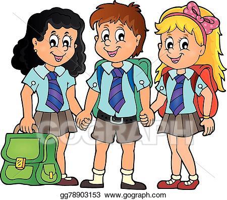 Schoolchildren clipart download EPS Vector - School pupils theme image 3. Stock Clipart ... download
