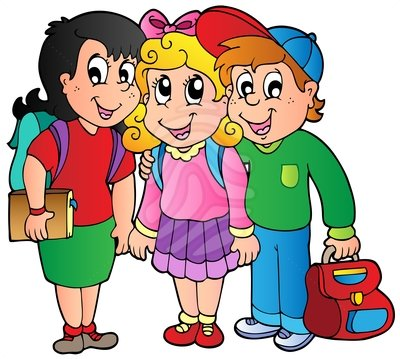 Kids holding hands backpacks on clipart banner transparent library School Children Clip Art | Clipart Panda - Free Clipart Images banner transparent library