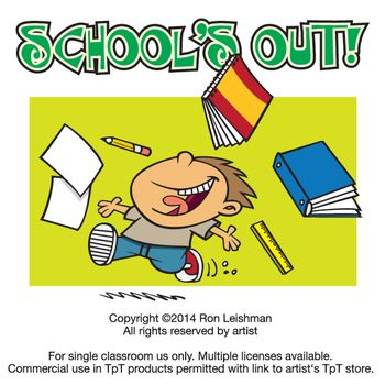 Schools out clipart picture royalty free download School's Out Cartoon Clipart | Teaching, Cartoon images and Come in picture royalty free download