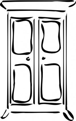 Schrank clipart svg transparent Schrank clipart schwarz weiß » Clipart Portal svg transparent