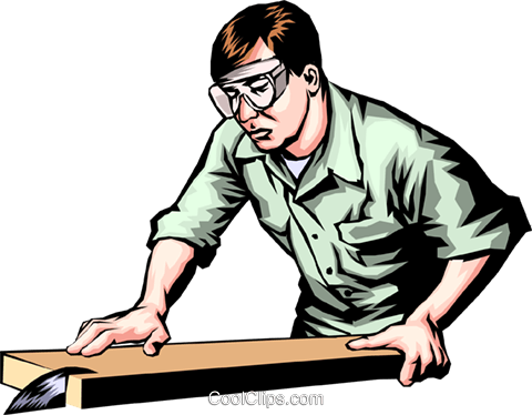 Schreiner bei der arbeit clipart banner transparent stock Mann der Arbeit mit einer Tischkreissäge Vektor Clipart Bild ... banner transparent stock