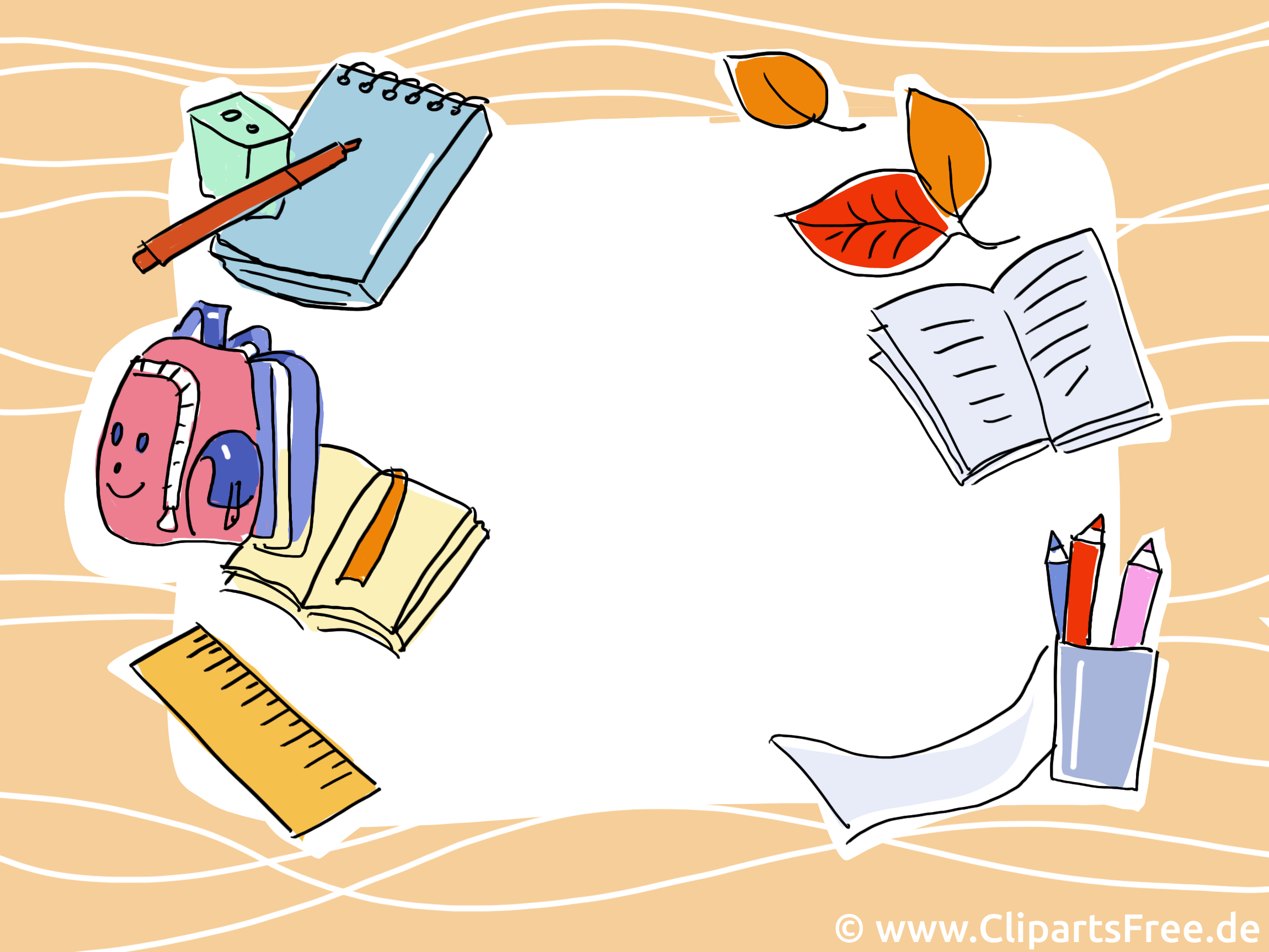 Schulanfang clipart kostenlos vector royalty free Hintergrundbild Schule. Schulanfang, Einschulung gratis vector royalty free