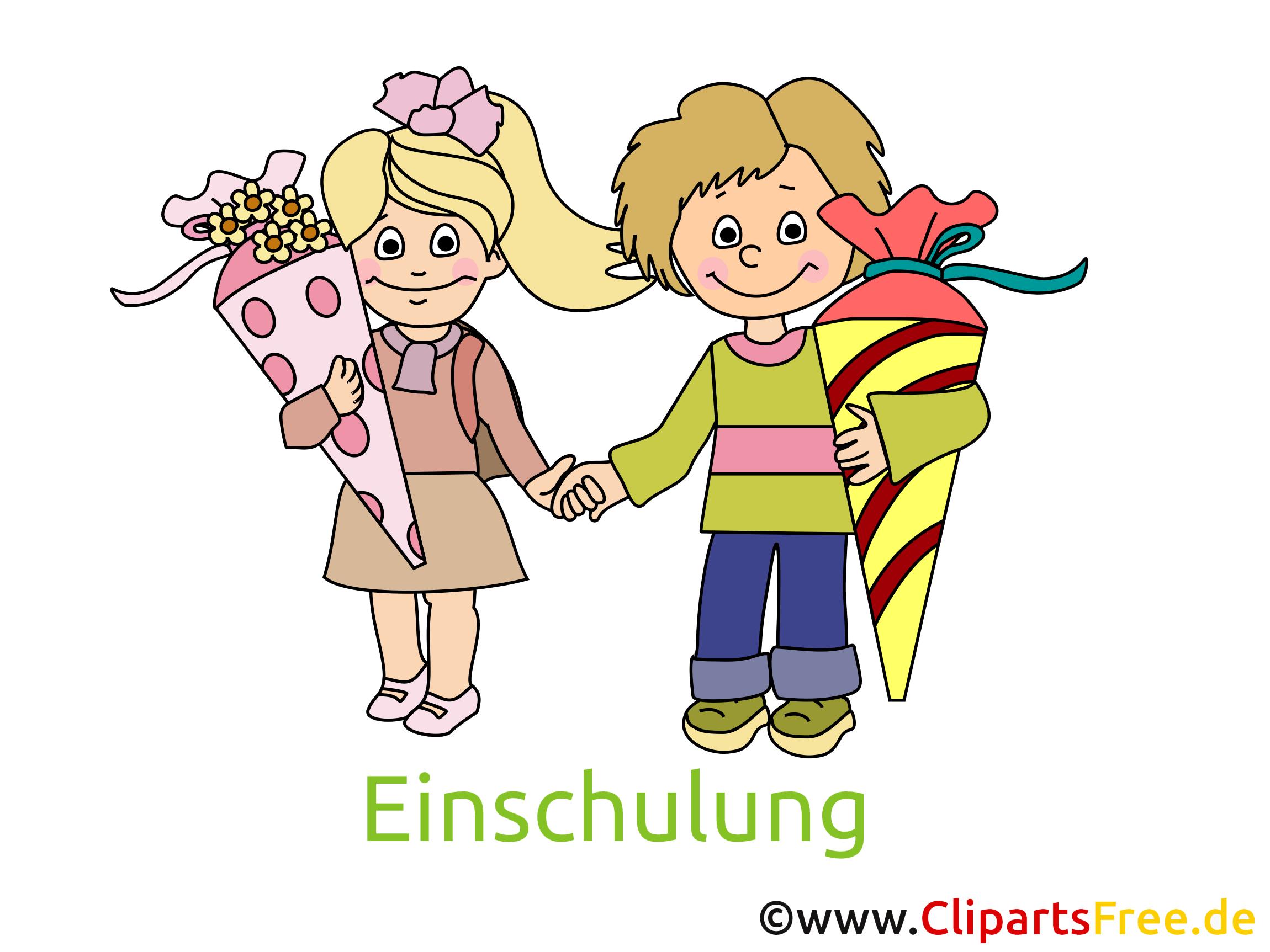 Schulanfang clipart kostenlos image royalty free Einschulung Bilder, Cliparts, Cartoons, Grafiken, Illustrationen ... image royalty free