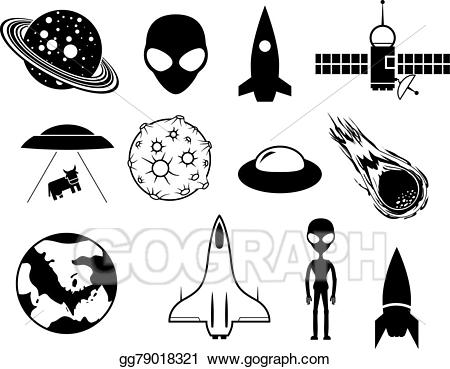 Sci fi movie clipart clip art royalty free download Vector Illustration - Sci-fi icons. EPS Clipart gg79018321 ... clip art royalty free download