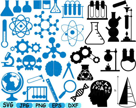 Science and math cliparts picture freeuse Science School SVG Cutting files monogram clipart Silhouette ... picture freeuse