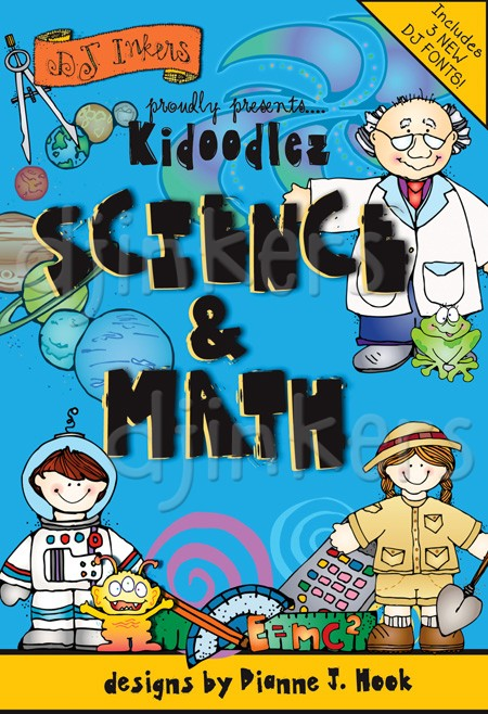 Science and math cliparts image black and white download Fun clip art for science and math on CD by DJ Inkers - DJ Inkers image black and white download
