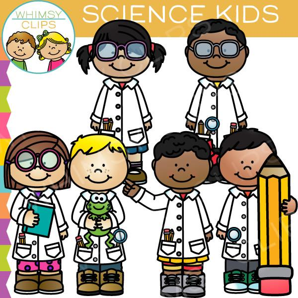 Science area clipart kids clip stock Science Kids Clip Art clip stock