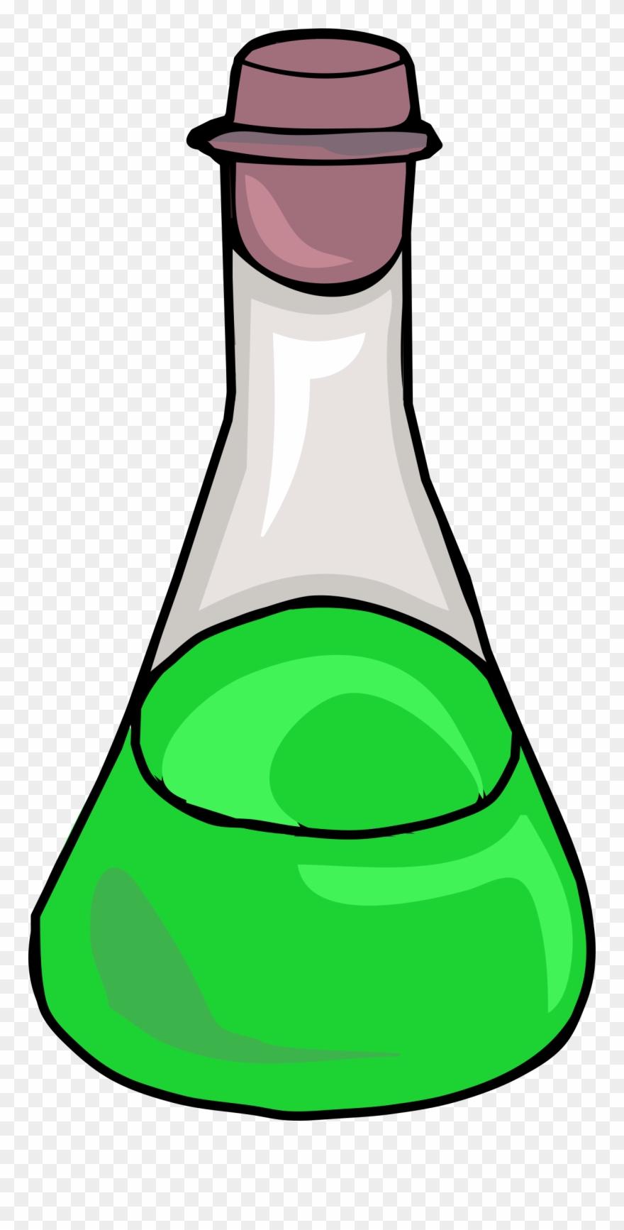 Science bottles clipart svg transparent Green Bottle Big Image Png - Science Bottle Clipart (#865352 ... svg transparent