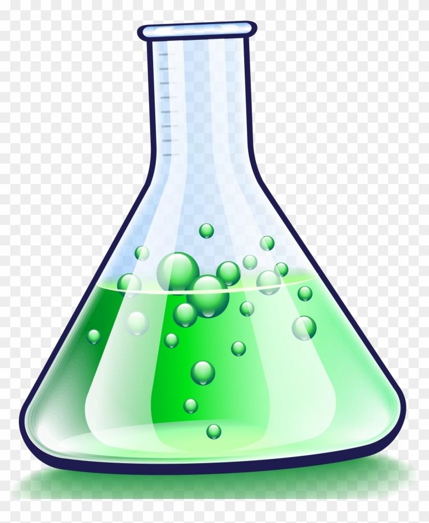 Science bottles clipart
