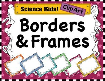 Science clip art borders png black and white download Science Kids Clipart: Borders & Frames - Set #2 | Science, Kid and ... png black and white download
