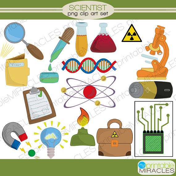 Science elements clipart vector free download Mad scientist Clipart, Chemistry digital clip art set ... vector free download