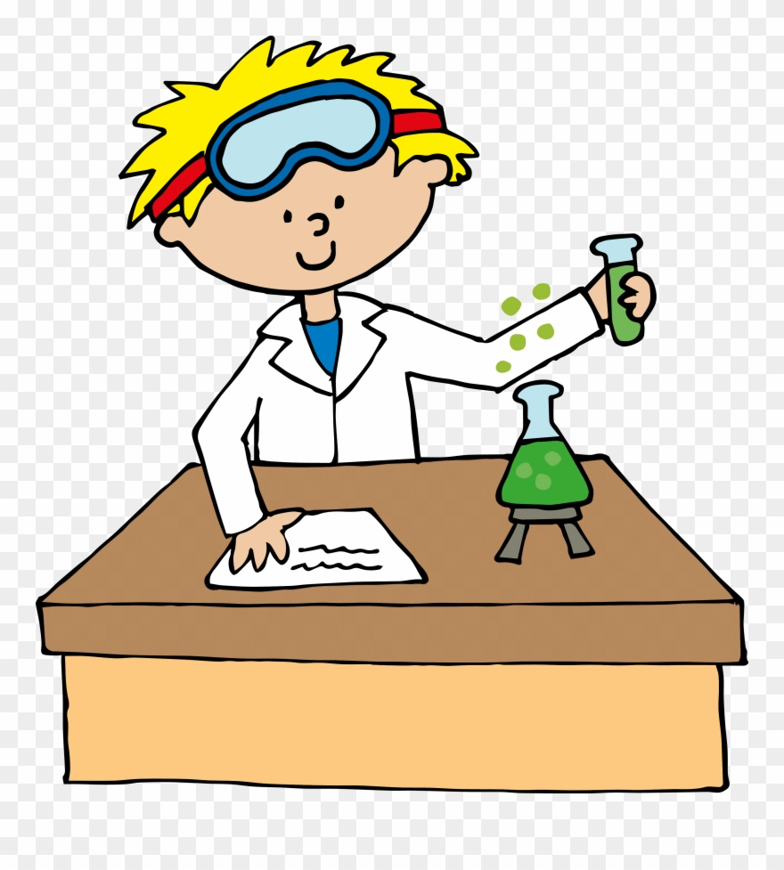 Science experiment pictures clipart clip black and white Science Clipart Craft Projects, School Clipart - Scientist ... clip black and white