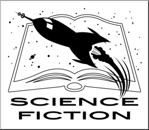 Science fiction clipart banner freeuse library Clip Art: Reading Icon: Science Fiction B&W 1 I abcteach.com ... banner freeuse library
