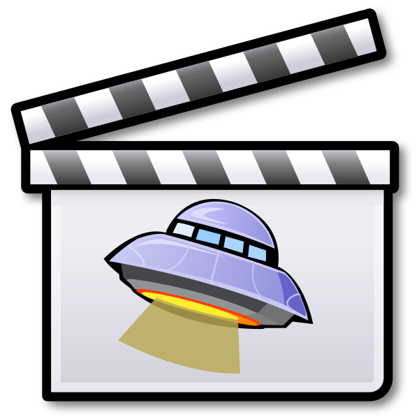 Science fiction film clipart transparent library File:Sci-fi film icon.svg - Wikipedia transparent library