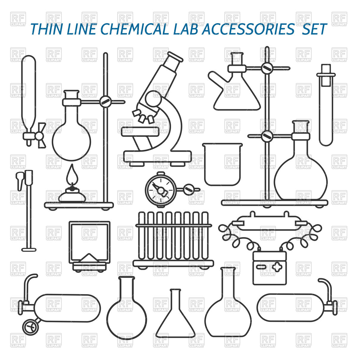 Science lab equipment clipart banner library library Science Equipment Drawings at PaintingValley.com | Explore ... banner library library