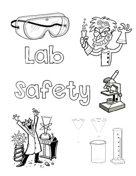 Science lab safety clipart in black and white png stock Science Lab Safety Coloring Page png stock