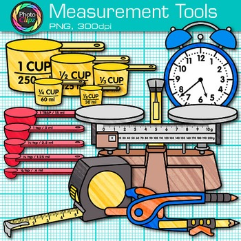 Science mass clipart free Measurement Tools Clip Art {Volume, Mass, Perimeter, Area for Math &  Science} free