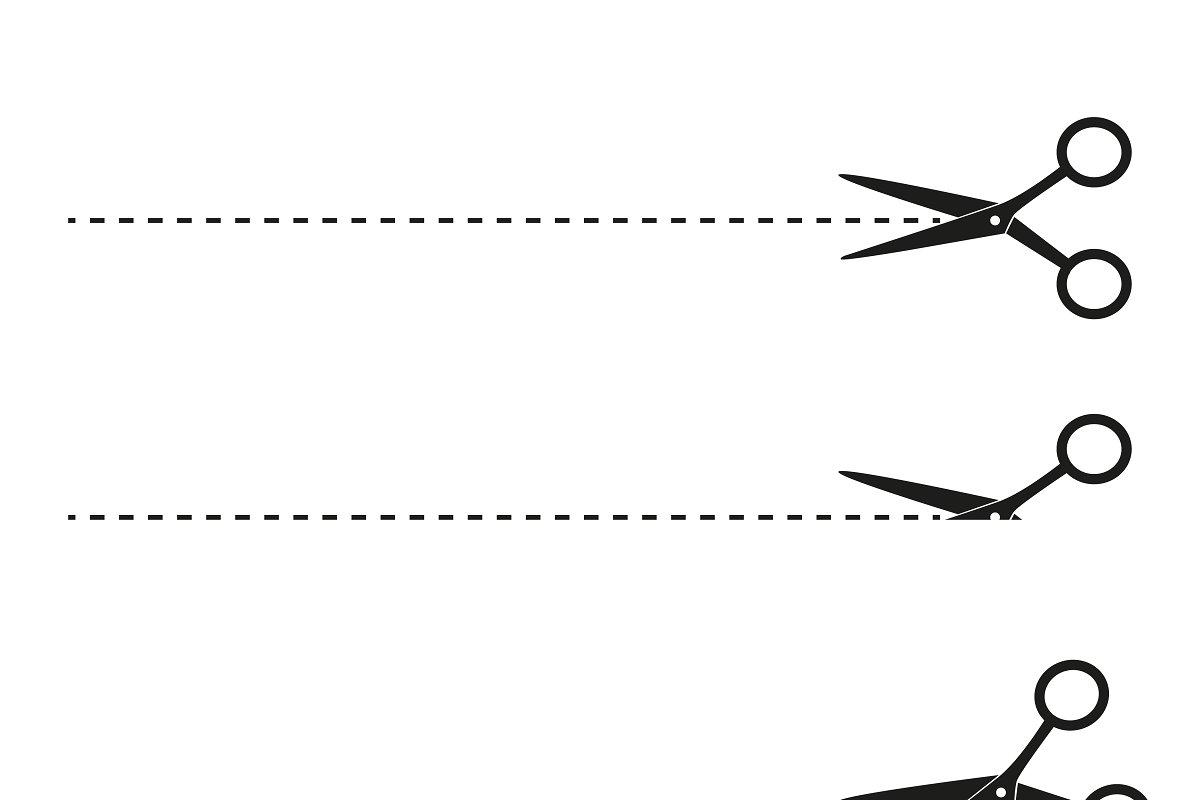 Scissor cut line clipart png download Scissors with cut lines png download