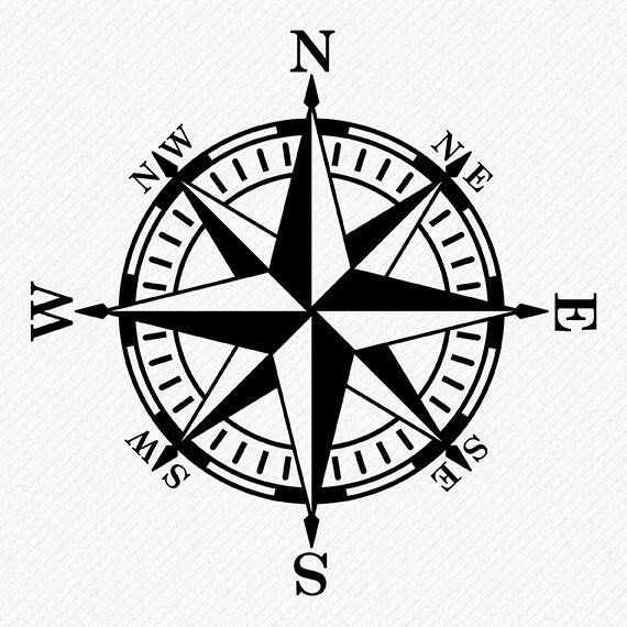 Scompass clipart vector free stock Compass Rose SVG files - Compass vector and clipart files ... vector free stock