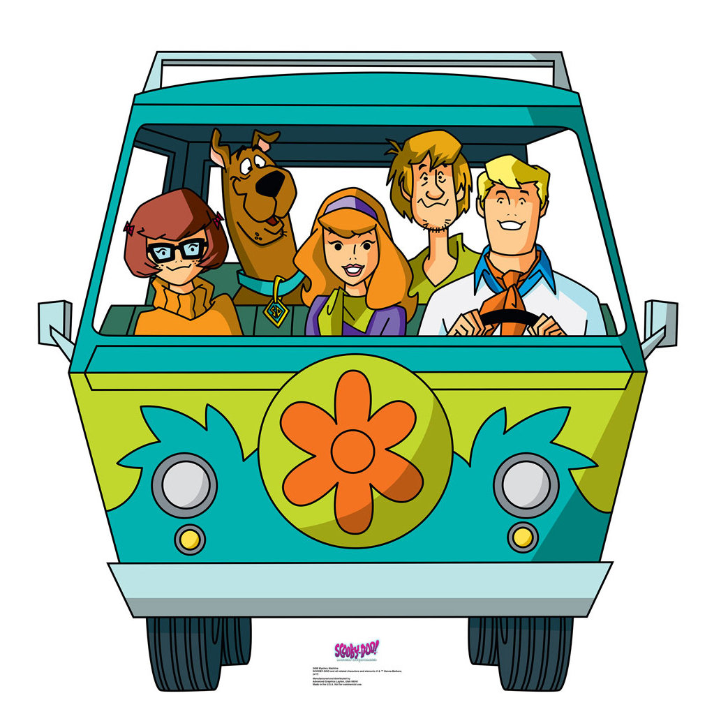 Scooby doo van clipart clip stock Scooby-Doo Mystery Incorporated Mystery Machine Standup clip stock