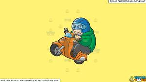 Scooter rider comedy clipart freeuse stock Clipart: A Man Doing A Wheelie On His Scooter on a Solid Sunny Yellow  Fff275 Background freeuse stock
