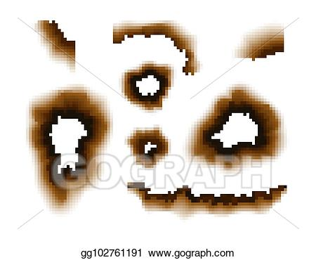 Scorched clipart png stock Vector Stock - Burnt paper hole. scorched paper holes vector ... png stock