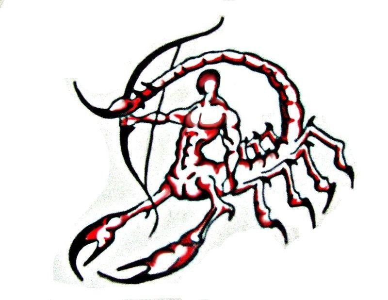 Scorpittarius clipart clip art library download Scorpio and Taurus Combined Tattoo | Scorpio Sagittarius ... clip art library download