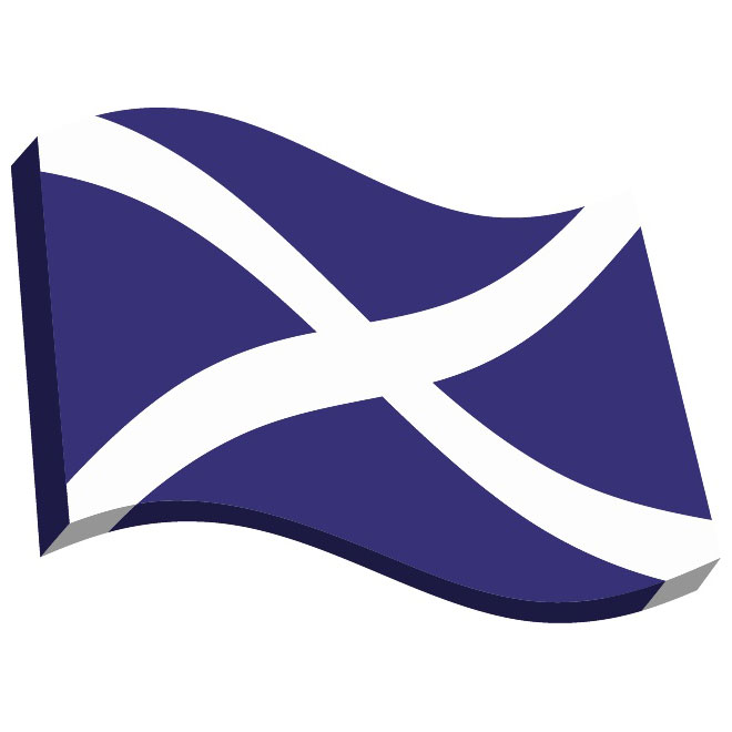 Scotland flag clipart clip art transparent stock Scotland 3D vector flag - Free vector image in AI and EPS ... clip art transparent stock