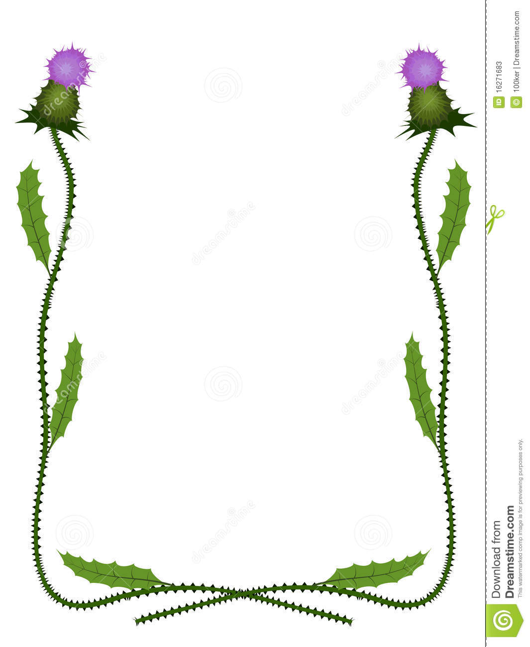 Scottish clipart borders image free stock Scottish Thistle Clipart (97+ images in Collection) Page 2 image free stock