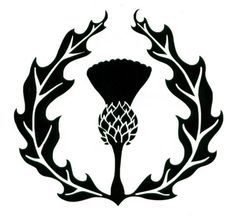Scottish clipart borders image library download Thistle Borders Clip Art | Drawing | Scottish thistle tattoo ... image library download