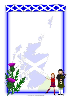 Scottish clipart borders clip transparent St Andrew\'s Day Teaching Resources & Printables for Primary ... clip transparent