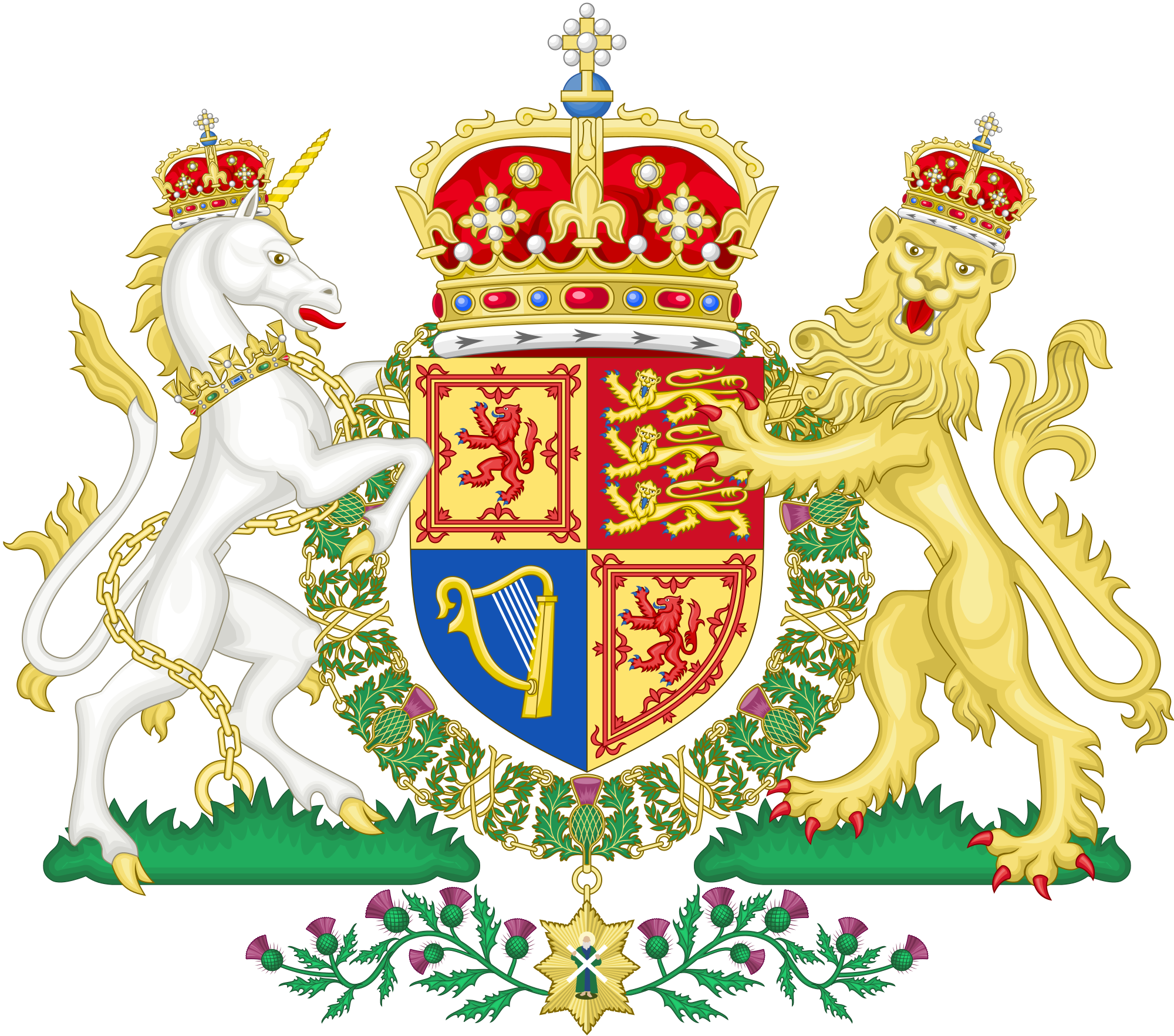 Scottish crown clipart clipart freeuse File:Royal Coat of Arms of the United Kingdom.svg - Wikimedia Commons clipart freeuse