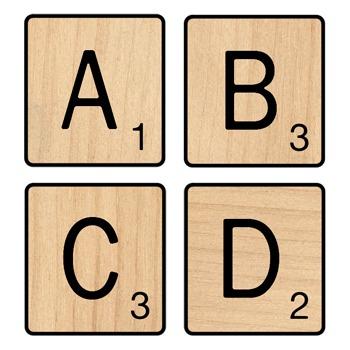 Scrabble letter a clipart clip art freeuse download Scrabble Letter Tiles Clip Art clip art freeuse download