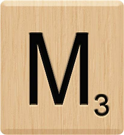 Scrabble letters clipart freeuse Amazon.com: Scrabble Tiles (10) Beautiful Scrabble Letter M ... freeuse