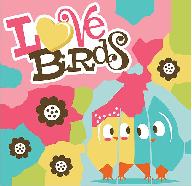 Scrap book clipart transparent Love Birds SVG Scrapbook Collection valentines day svg files for ... transparent