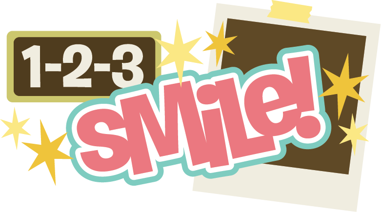 Scrap book clipart graphic 1-2-3 Smile! SVG scrapbook title svg files for scrapbooking free ... graphic