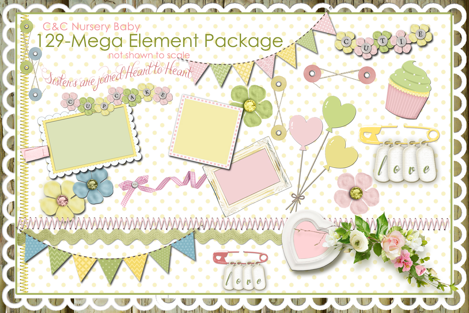 Scrapbook clipart png royalty free library Nursery Baby Pastel Collections-129 ElementsClipart Designer Scrapbook png royalty free library