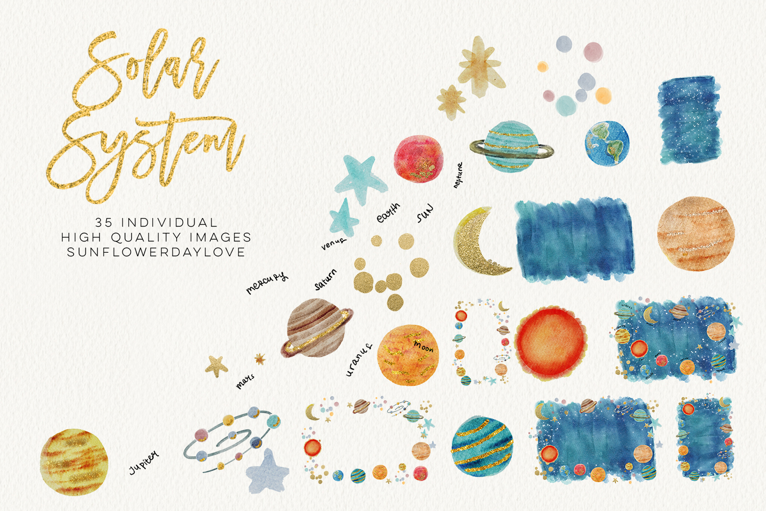 Scrapbook clipart graphic free stock watercolor SOLAR SYSTEM clipart, Outer Space Clipart planets graphic space  clipart scrapbook planet clip art, digital image digital download - Vsual graphic free stock