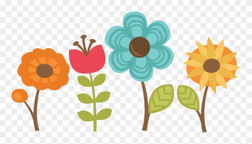 Scrapbook flower clipart clip art library download Flowers Set Of Cut Files For Scrapbooking - Set Of 4 Flowers ... clip art library download