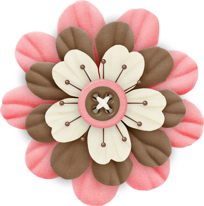 Scrapbook flower clipart image freeuse HD Cute Cliparts ❤ Pink And Brown Flower - Cute Flower For ... image freeuse