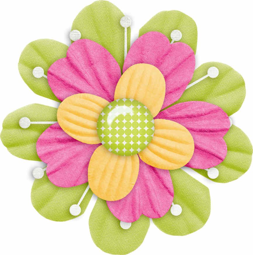 Scrapbook flower clipart clip royalty free Flores | CLIP ART - BOWS AND FLOWERS | Flower clipart, Paper ... clip royalty free