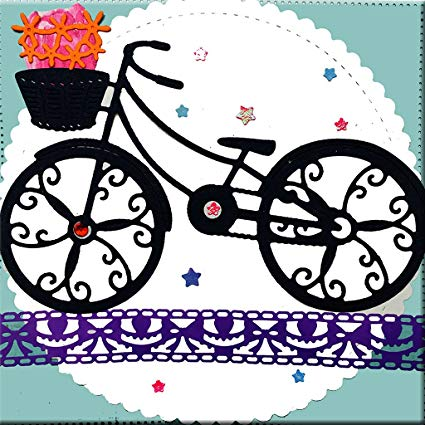 Scrapbook images bike clipart clip Amazon.com: Yeahii Bicycle Embossing Steel Cutting Dies ... clip