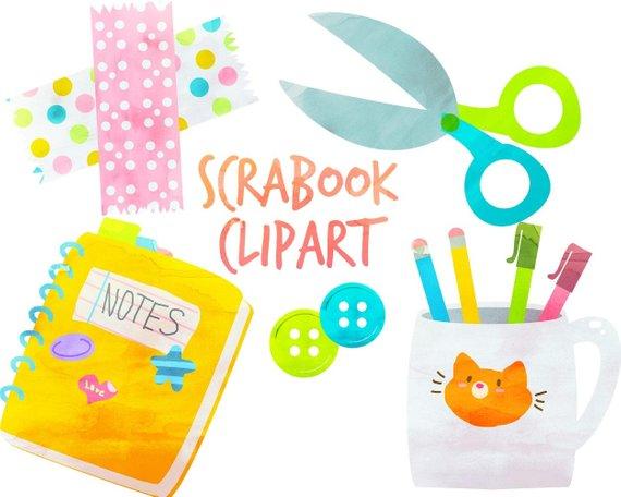Scrapbook images clipart jpg transparent Cute School clipart, School Supplies, Scrapbook Clipart ... jpg transparent
