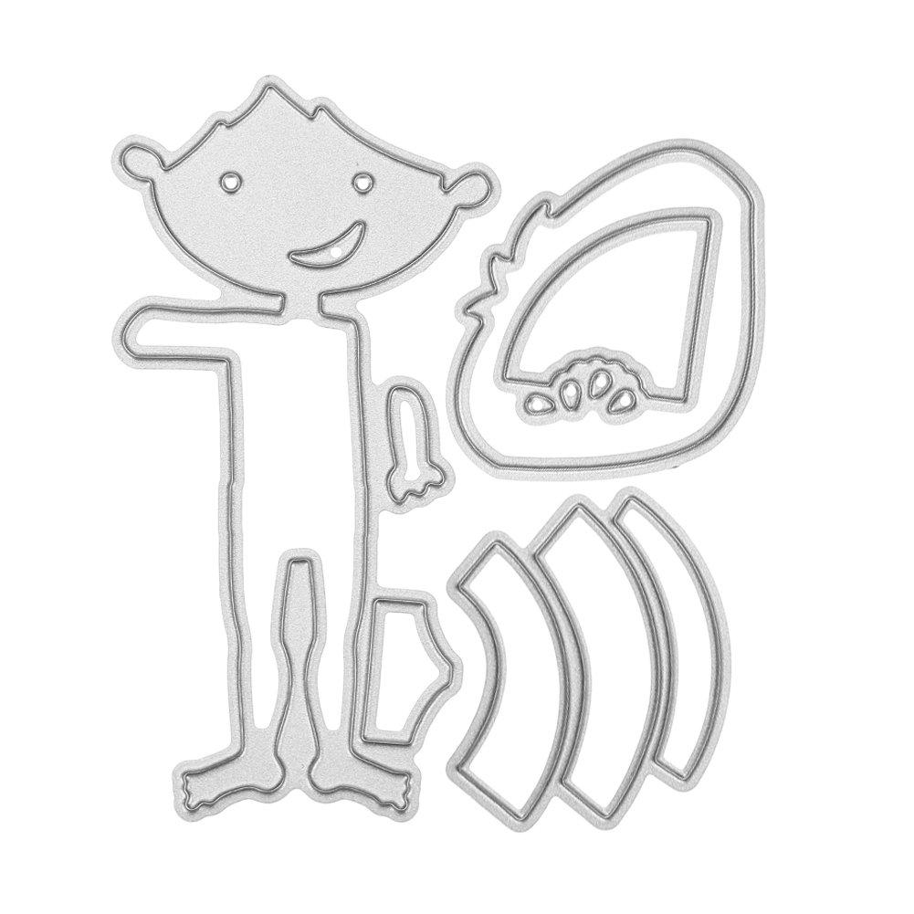 Scrapbooking card ladies hat and purse clipart transparent library Demiawaking Dress/Beach Boy Girl Women Hat Bag DIY Metal Cutting Dies  Stencils Scrapbook Embossing Album Card Gifts (Watermelon Boy) transparent library